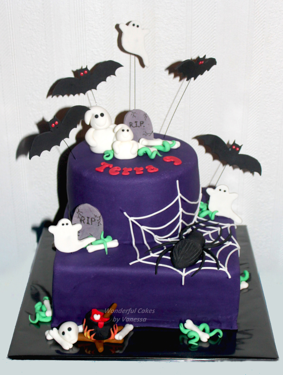 For A Birthday Girl A Halloween Cake In January The Spider