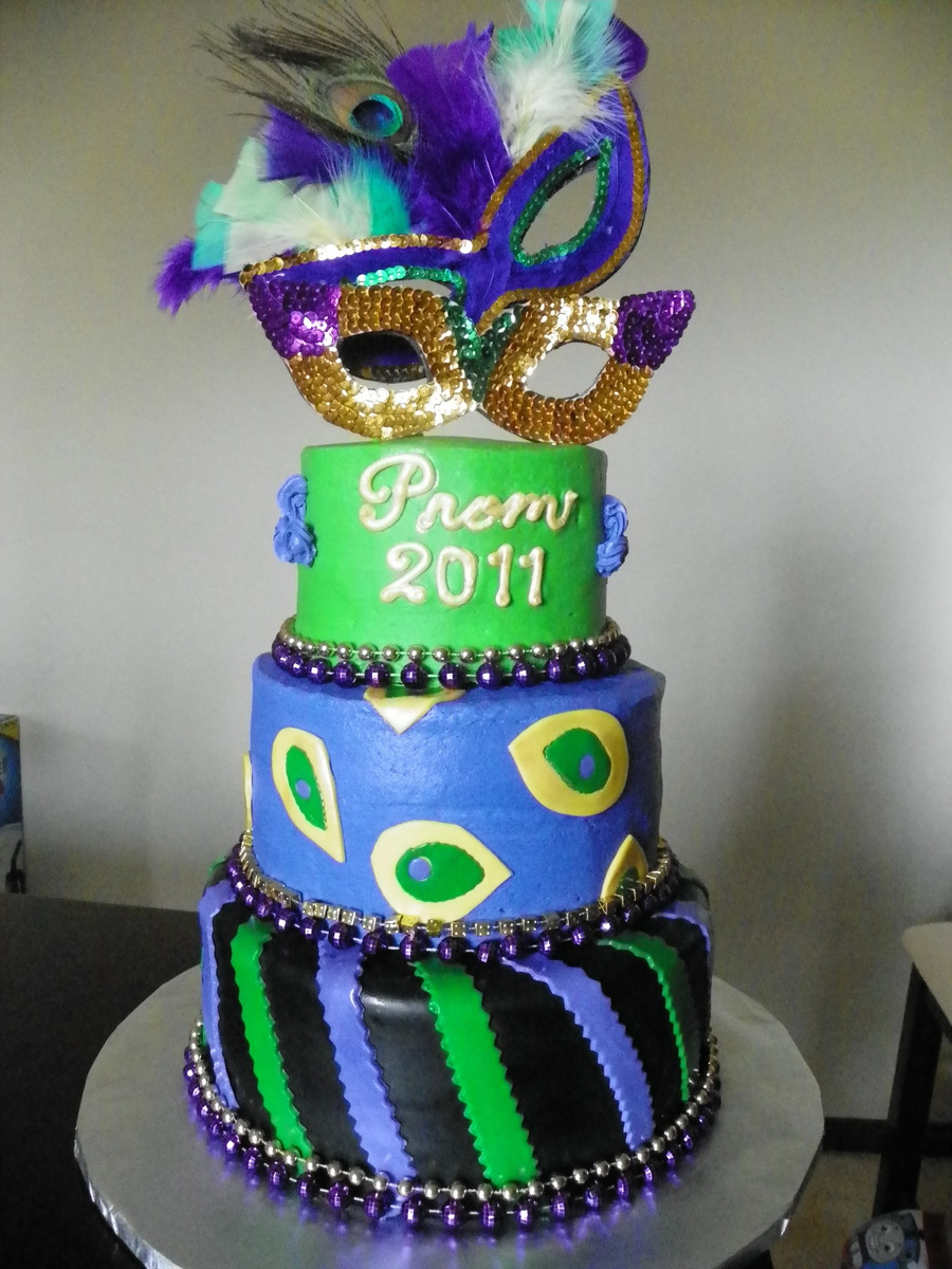 Mardi Gras Prom Cake on Cake Central