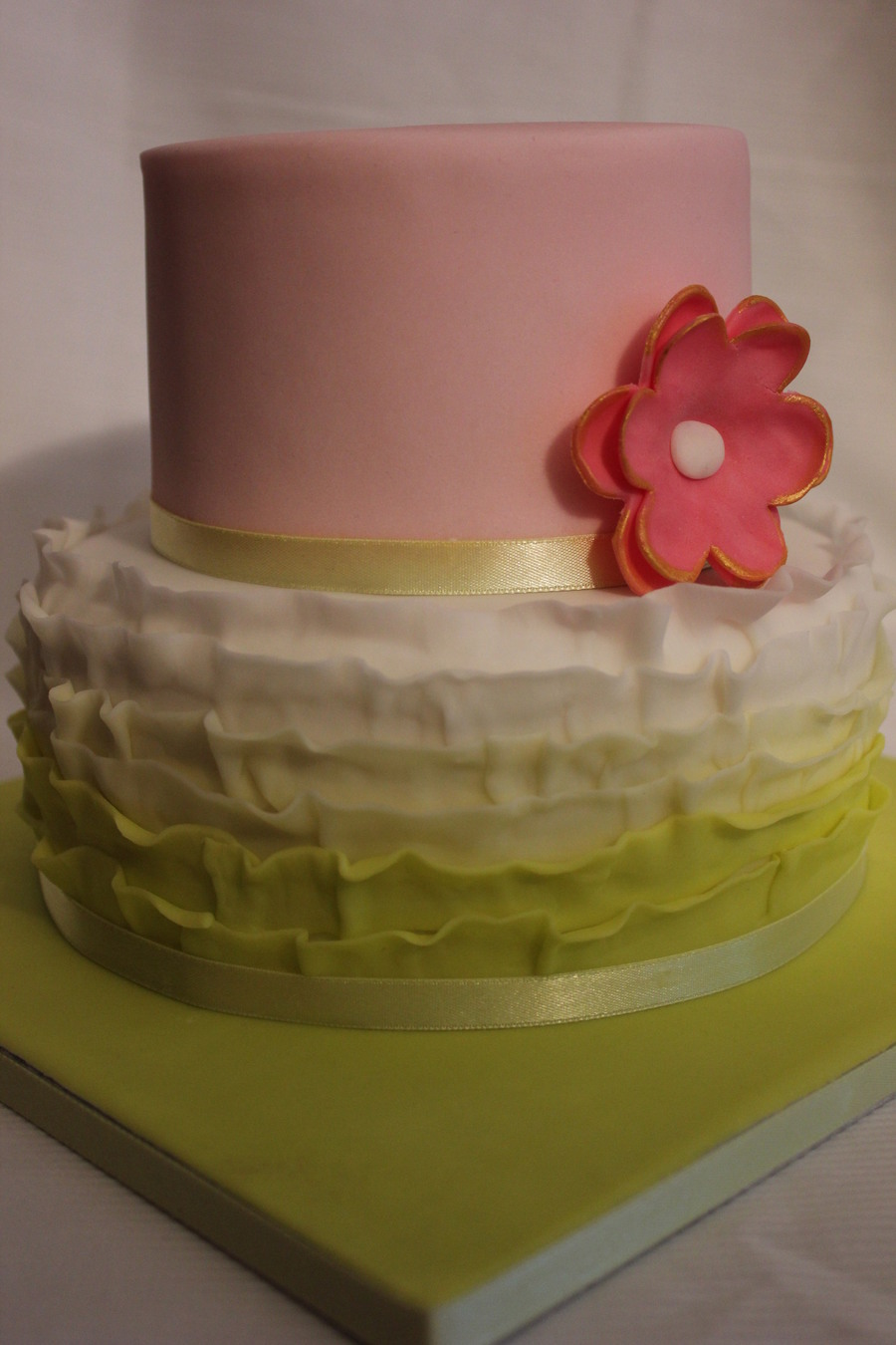 Fondant Ruffle And Flower on Cake Central