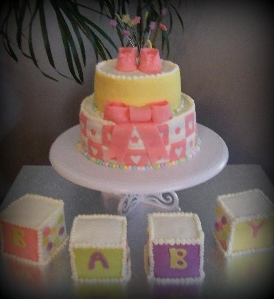 Booties And Blocks on Cake Central