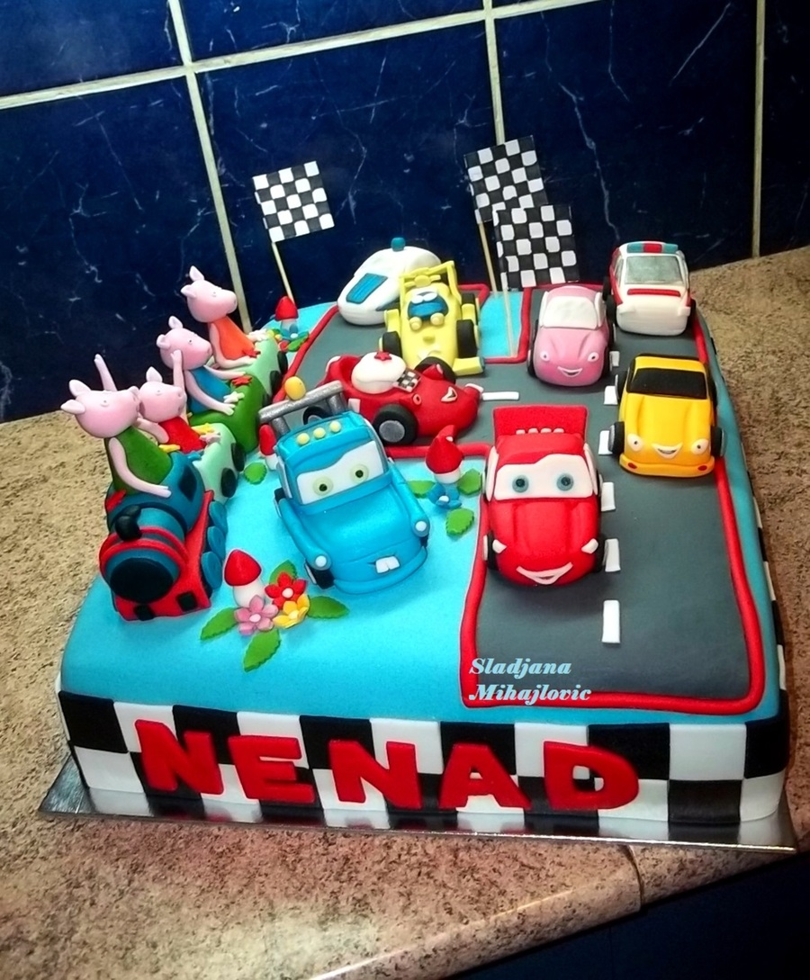 Disney Cars Peppa Pig Cakecentral