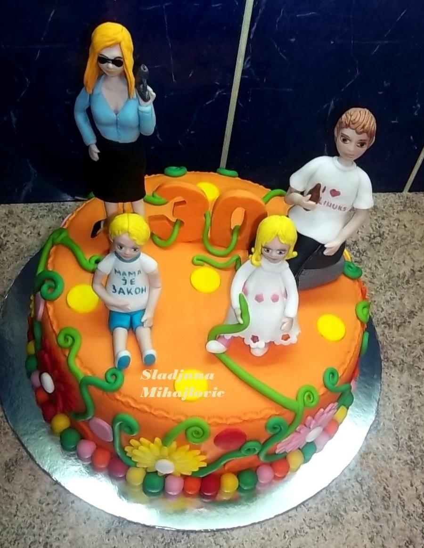 Family Cake Mom Dad And Kids Cakecentral Com