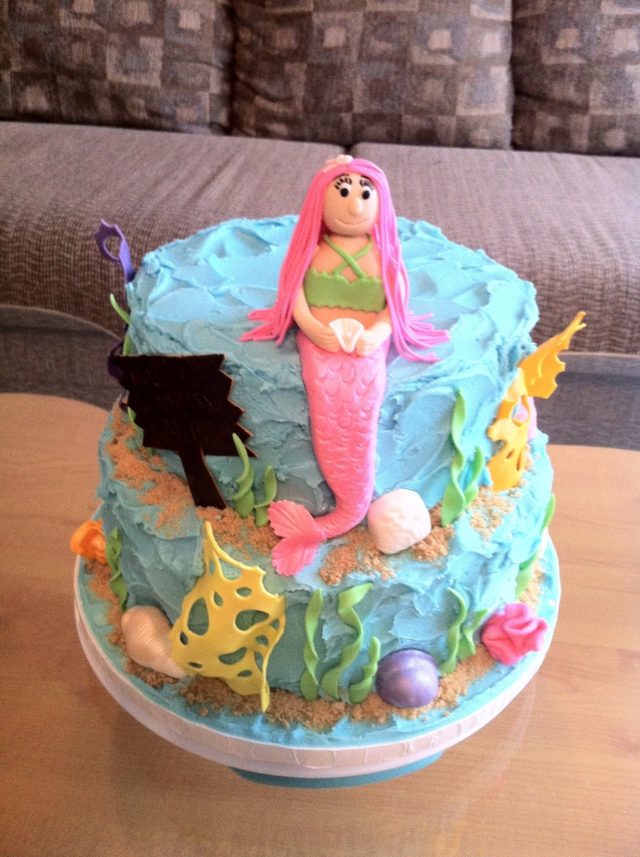 Pink Mermaid on Cake Central