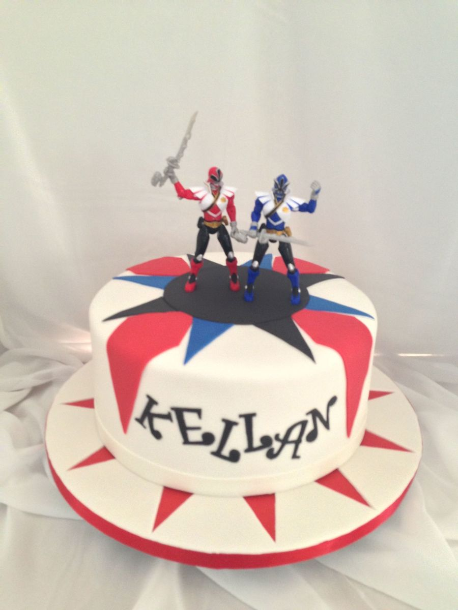 Go Go Power Rangers! on Cake Central