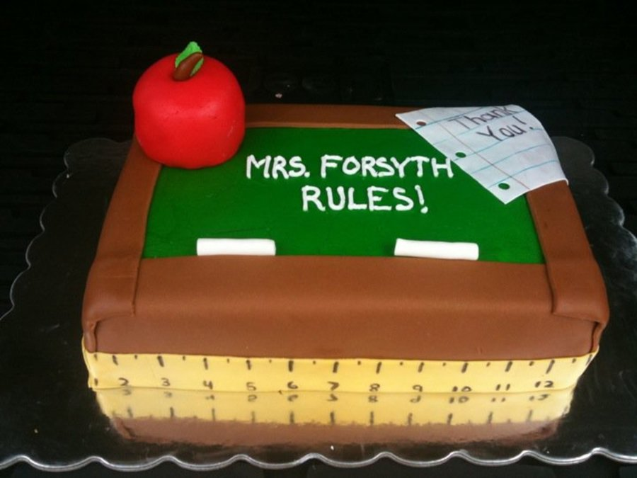 Chalkboard For Teacher on Cake Central