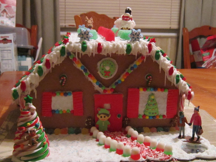 My First Gingerbread House.  on Cake Central