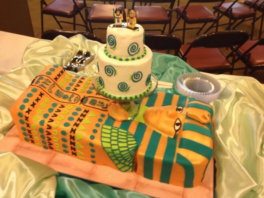 King Tut Wedding Cake - CakeCentral.com