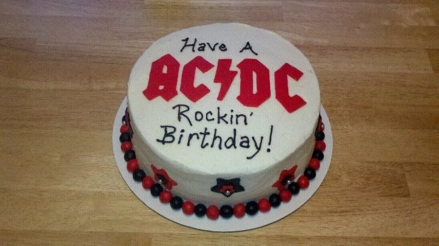 Ac Dc Rockin Birthday On Cake Central