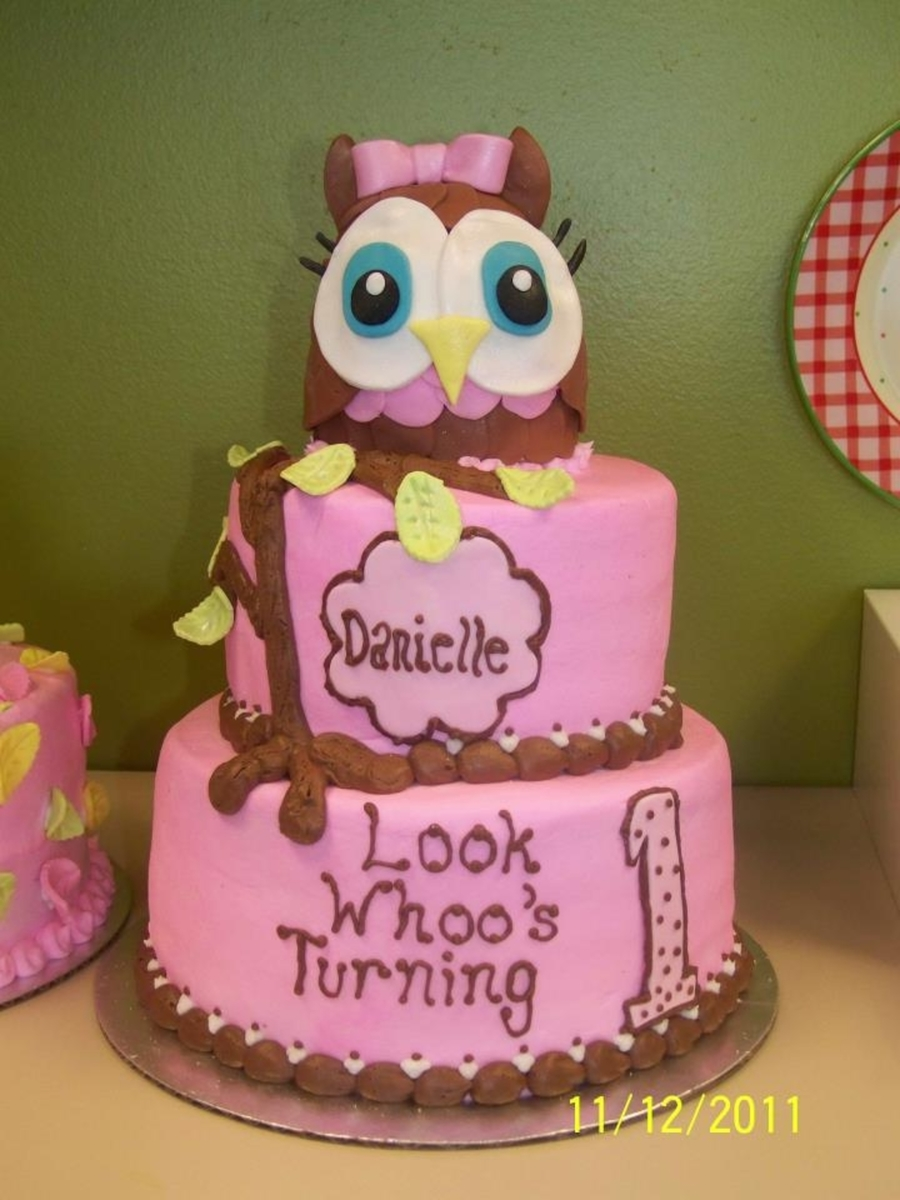 Look Whoo's Turning 1  on Cake Central