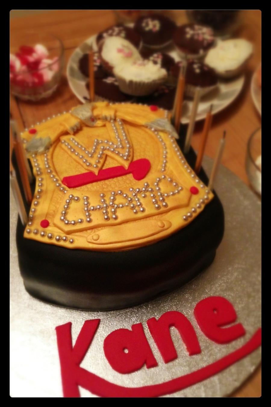 Wwe Wrestling Belt Cake Cakecentral