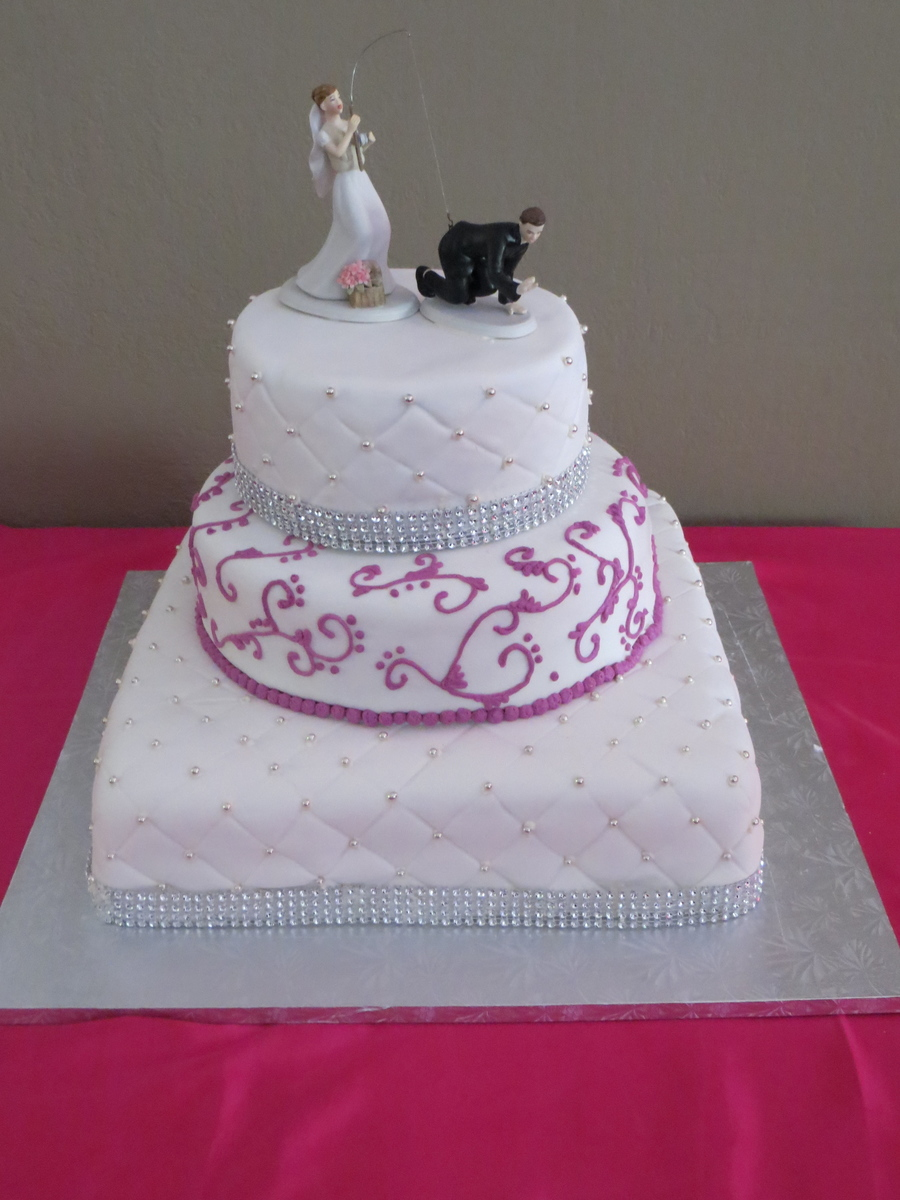 First Wedding Cake Made With Fondant on Cake Central