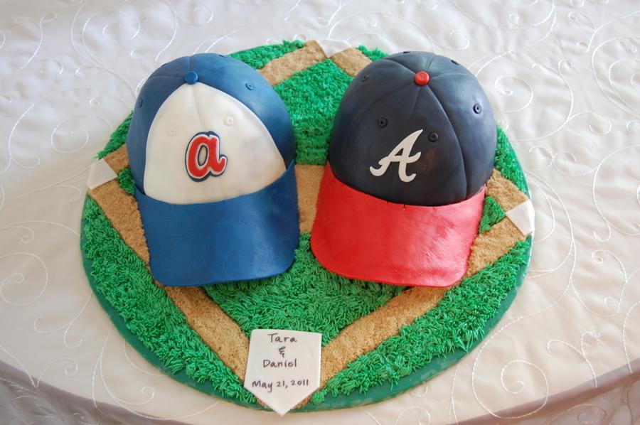 Braves Baseball Hats Cake - CakeCentral.com c9d350412231