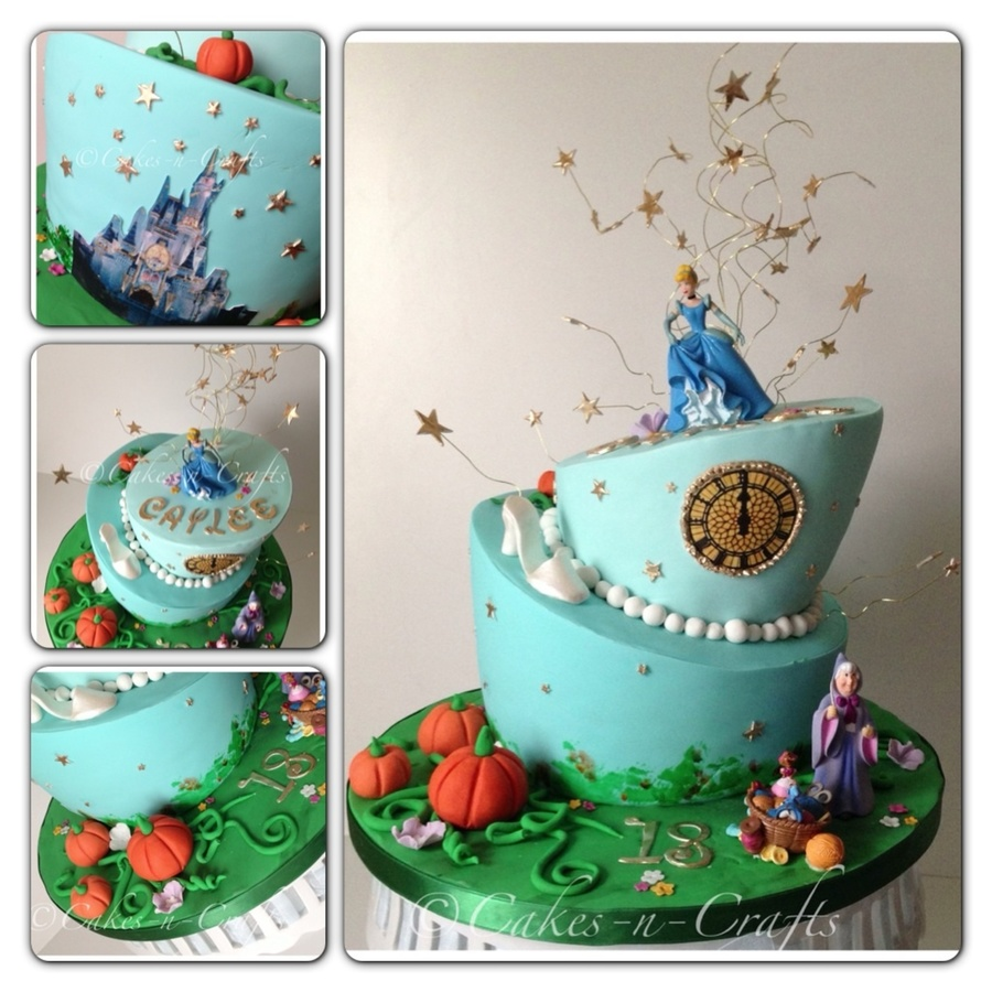 At The Stroke Of Midnight Cinderella on Cake Central