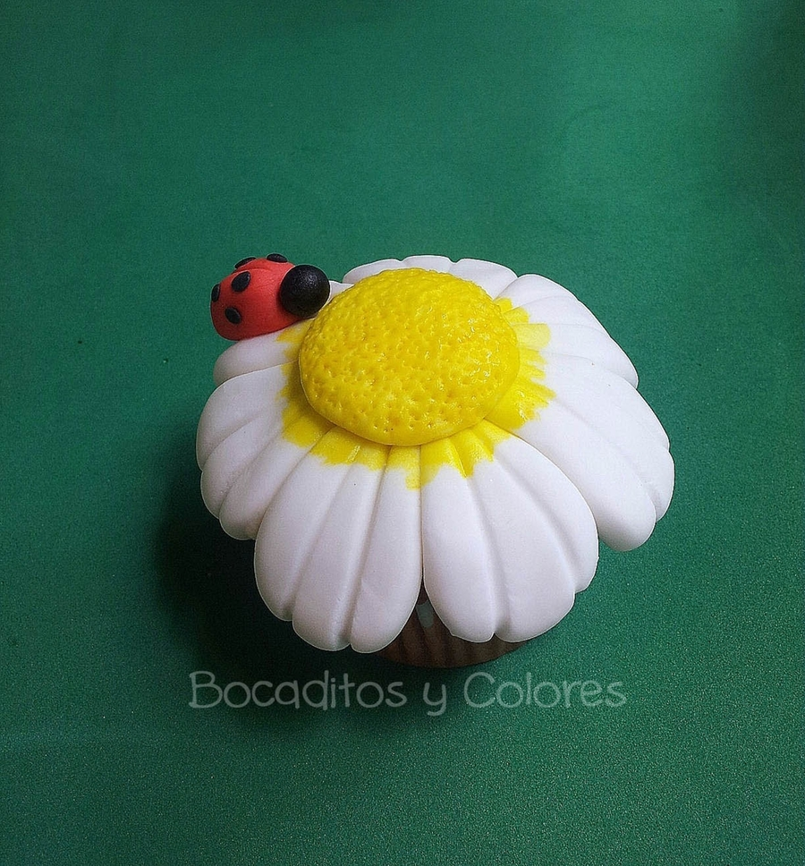 Flower And Ladybird Tutorial  on Cake Central