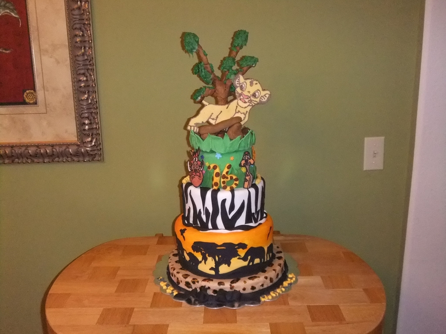 Lion King Cake Made For My 16 Year Old Granddaughter Simba Timon Pumba Out Of Chocolate I Had A Backup Topper So Took Pic Both