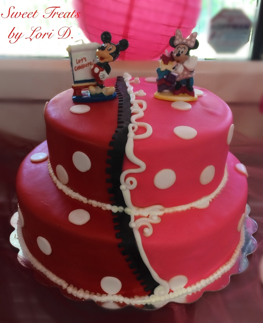 Astounding Twins Mickey And Minnie 1St Birthday Cakecentral Com Funny Birthday Cards Online Overcheapnameinfo
