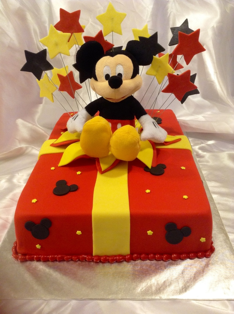 Mickey Mouse Birthday Present Cake Cakecentral Com