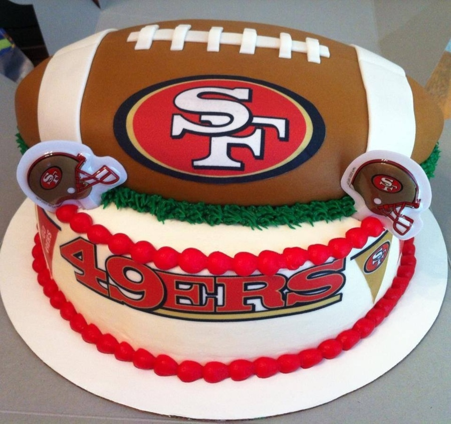 Birthday Cake Design San Francisco : 49Ers Birthday Cake - CakeCentral.com