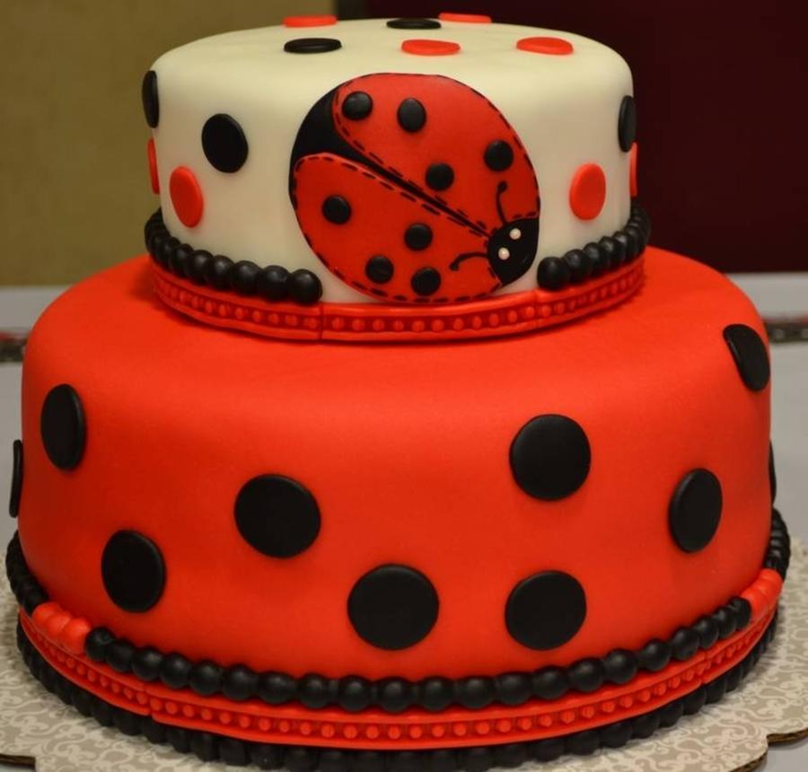 ladybug baby shower cake