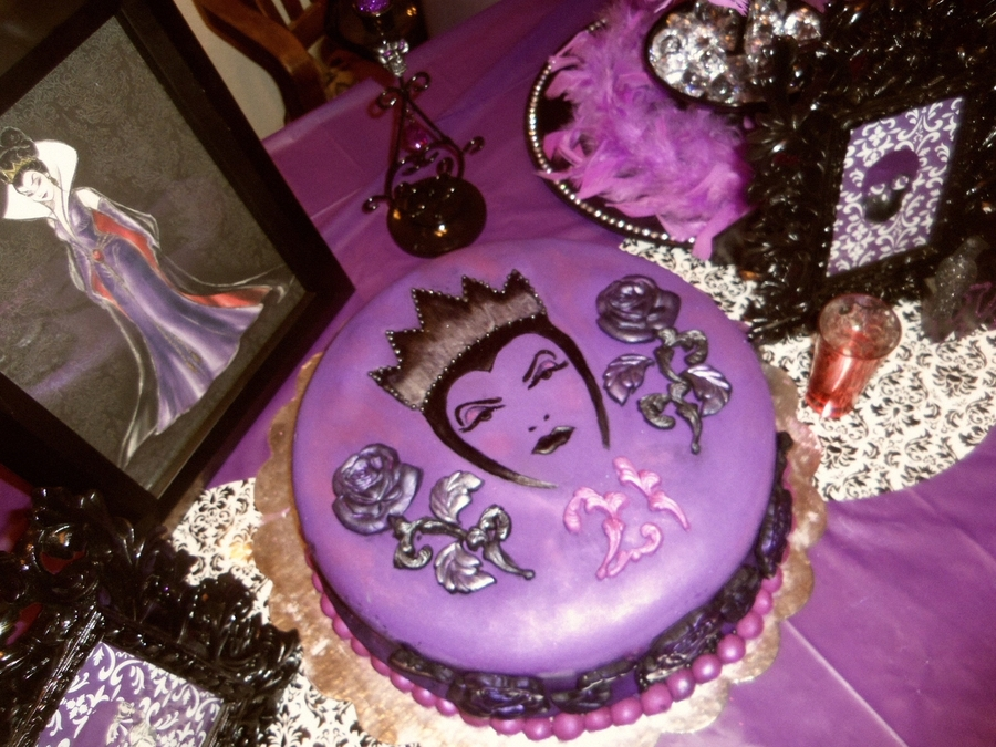 My Evil Queen 21St Birthday Cake on Cake Central
