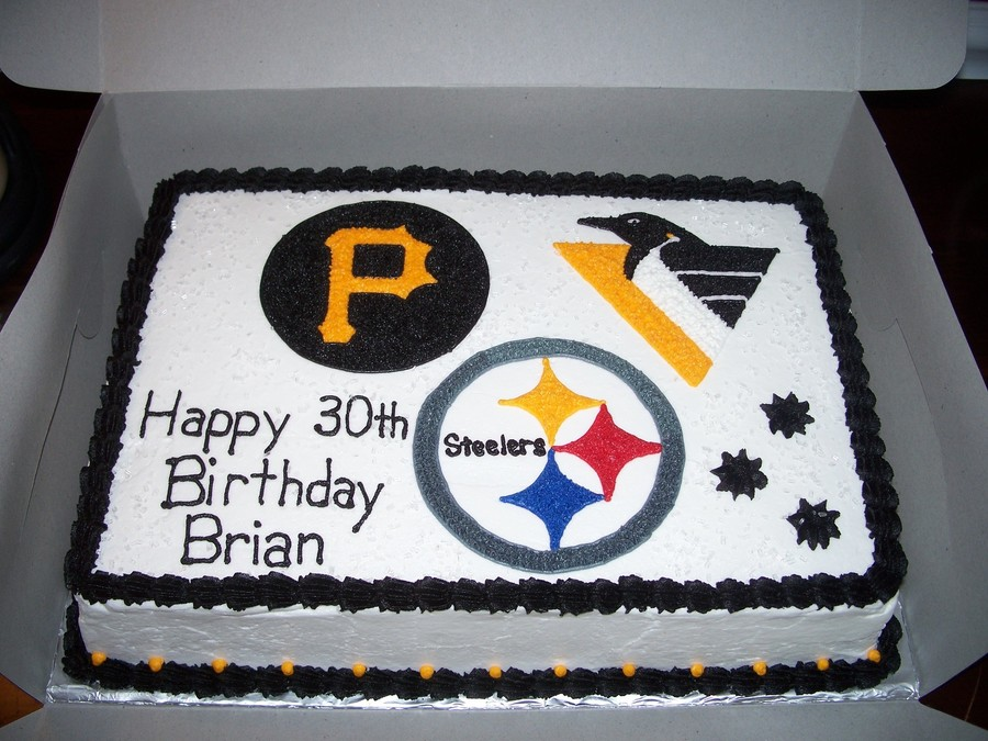 Peachy Pittsburgh Teams Birthday Cake Cakecentral Com Funny Birthday Cards Online Aeocydamsfinfo