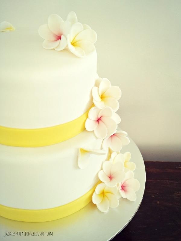 Frangipani Wedding Cake - CakeCentral.com