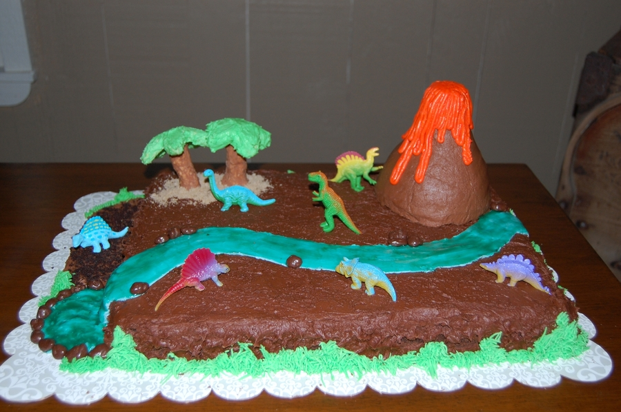 Dinosaur Birthday Cake on Cake Central