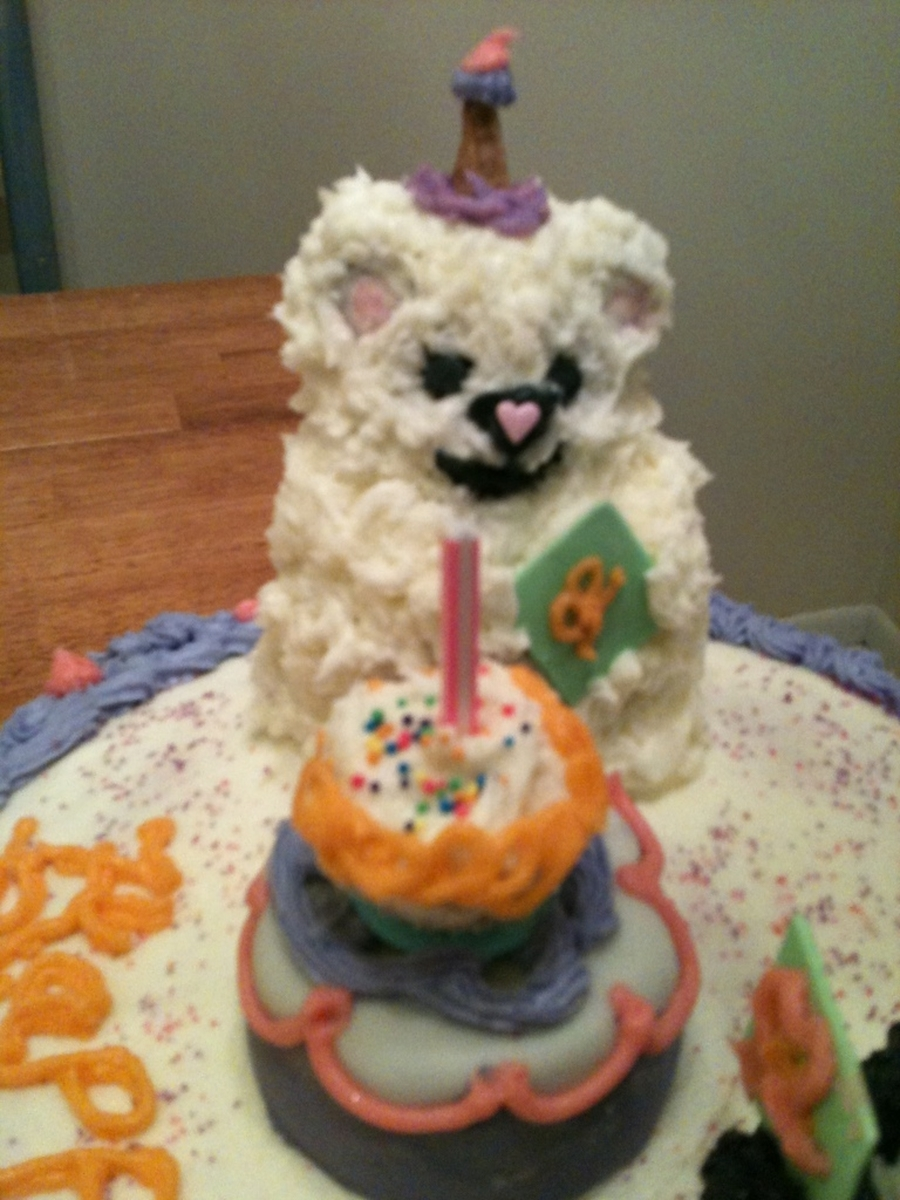 This is a birthday cake that I made for my mom. She just loves little ...