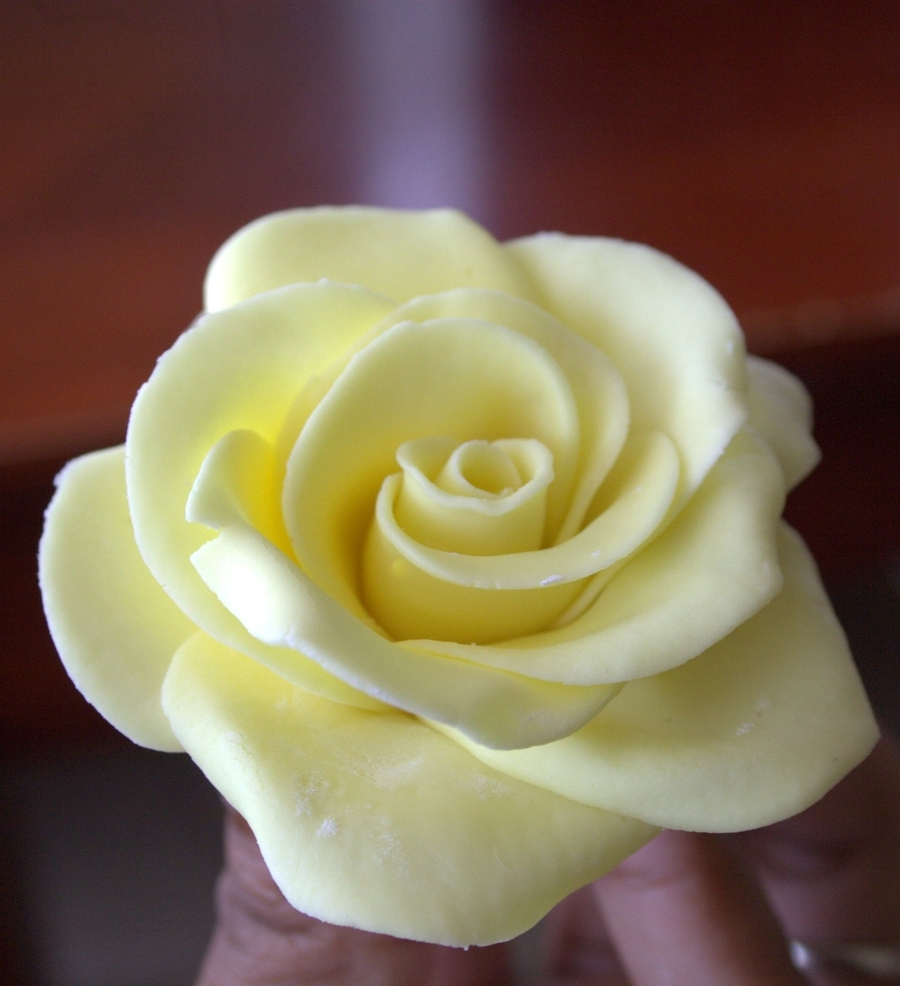 Yellow Fondant Rose - CakeCentral.com