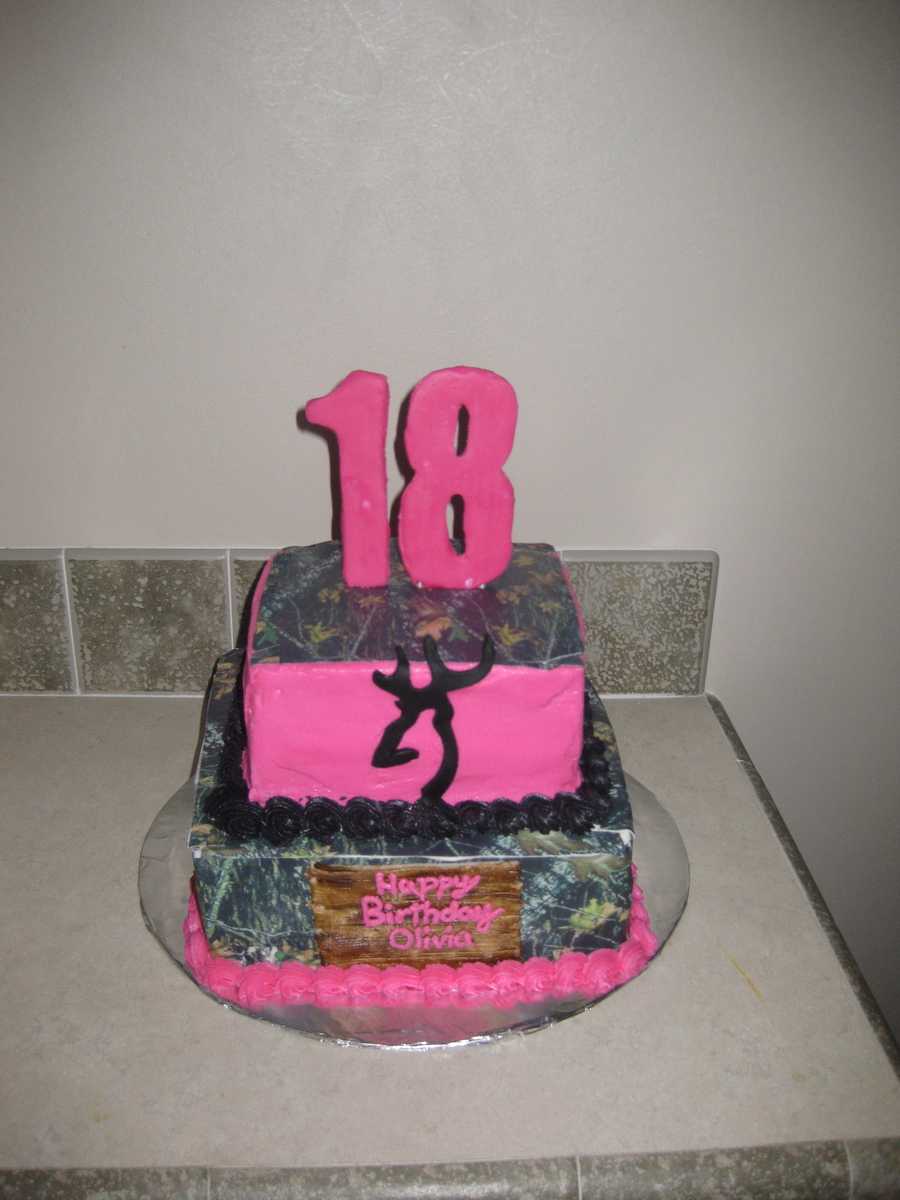 Hunting Birthday Cakes Pink Camouflage