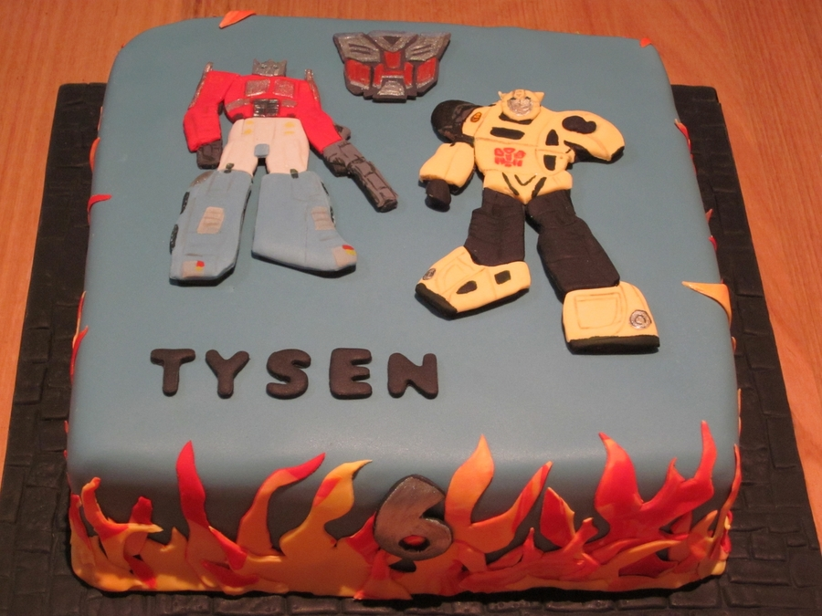 Optimus Prime Bumble Bee Transformer Cake On Central