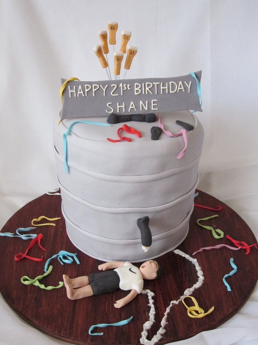 Astonishing 21St Birthday Male Cakecentral Com Funny Birthday Cards Online Aboleapandamsfinfo
