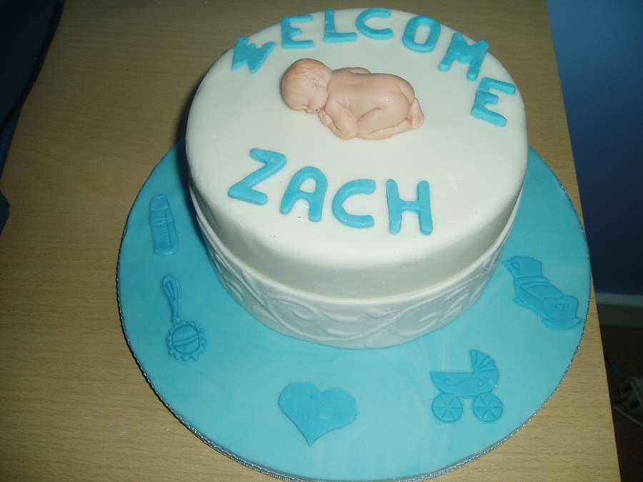 Baby Welcome Cake Images : Welcome Baby Boy Cake - CakeCentral.com
