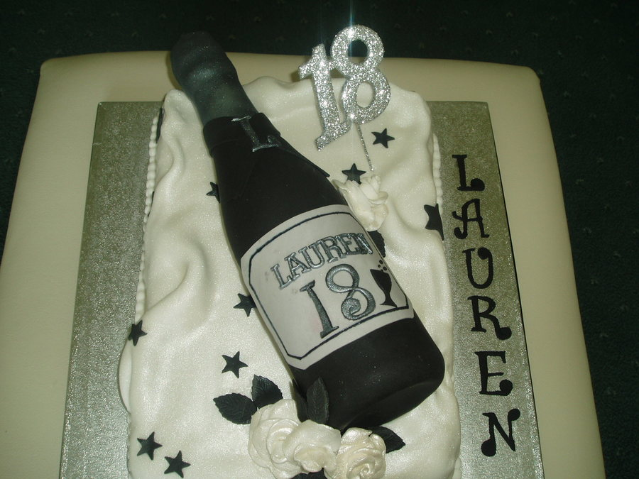 Remarkable Champagne For An 18Th Birthday Cakecentral Com Funny Birthday Cards Online Hetedamsfinfo