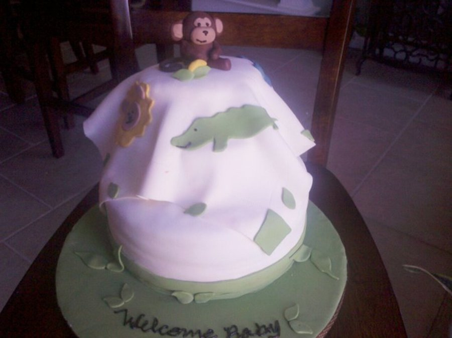 Jungle Jingle Baby Shower Cake on Cake Central