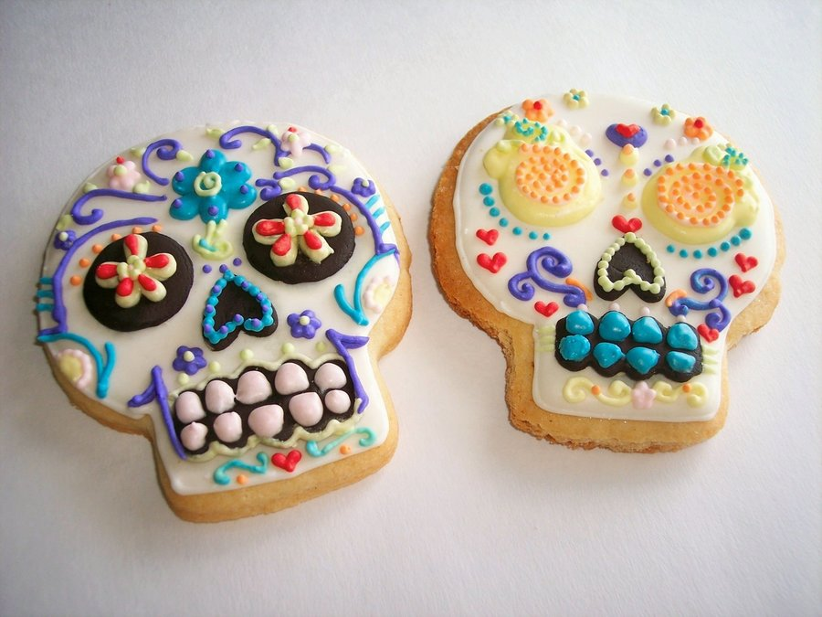 Day Of The Dead Duo on Cake Central