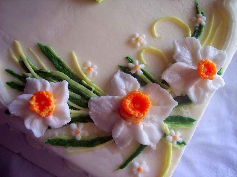 Spring Daffodils on Cake Central