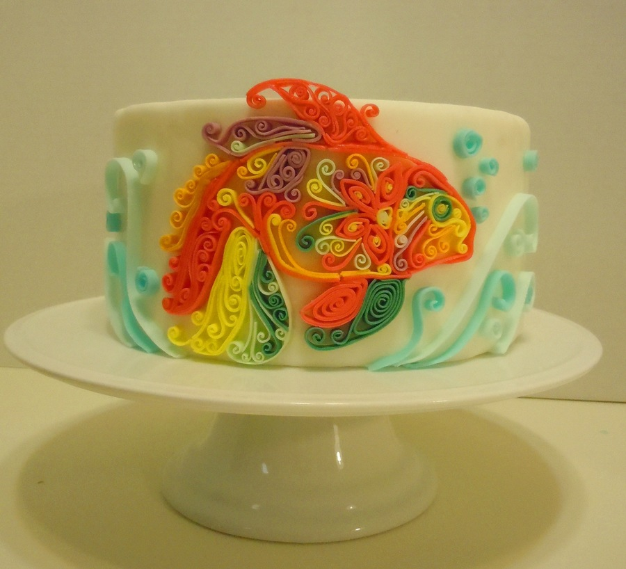 Quilled Fish - CakeCentral.com