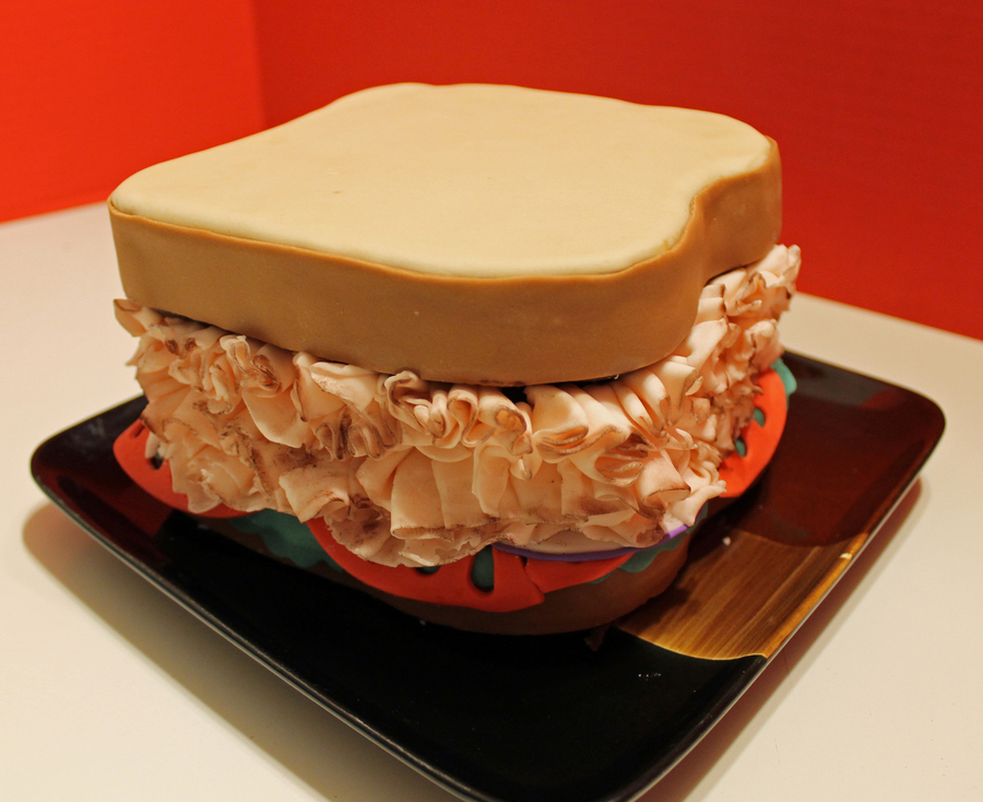 Ham Sandwich Cake on Cake Central