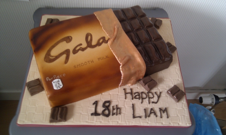 Galaxy Chocolate Bar On Cake Central