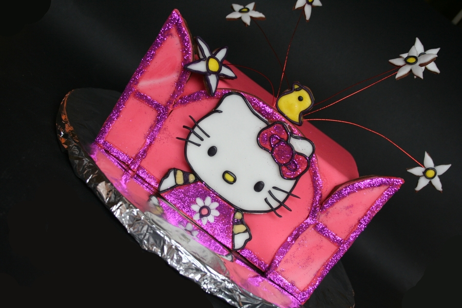 Hello-Kitty Cake  on Cake Central