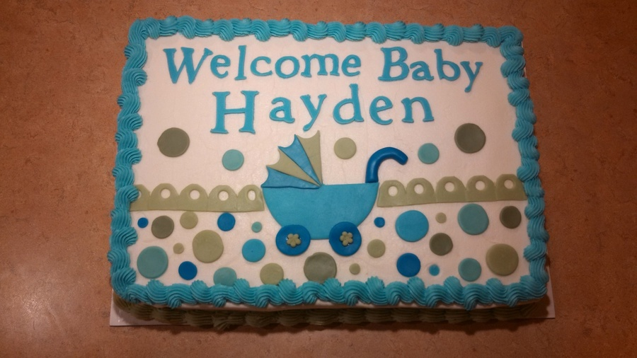 Baby Shower Buggy on Cake Central