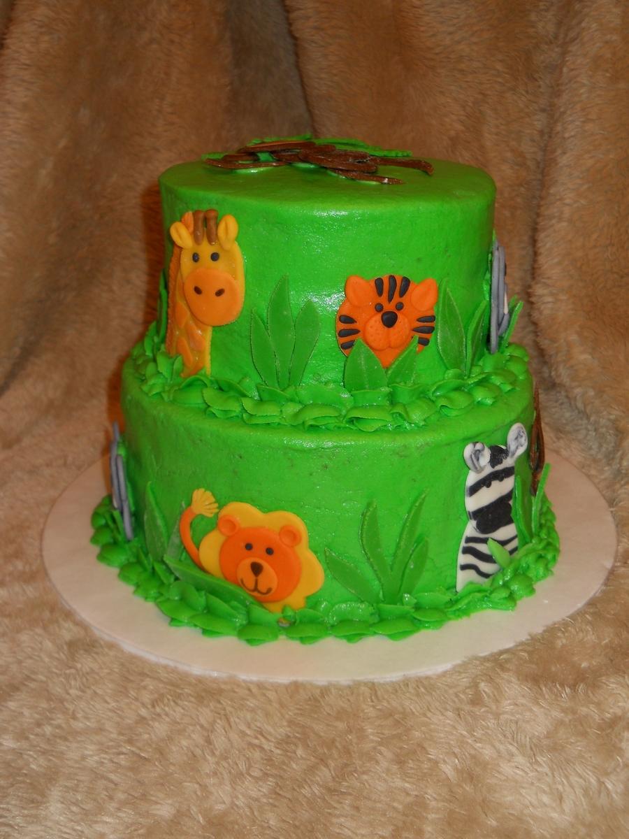 Baby Shower Yellow Cake
