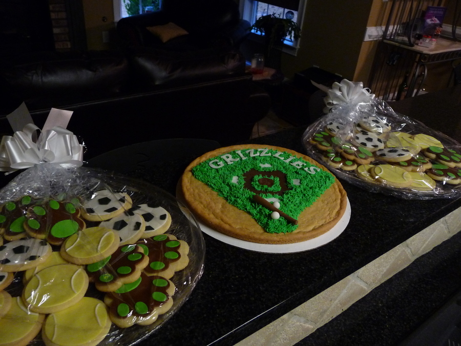 Sugar Cookies Decorated For A College Athletic Department on Cake Central