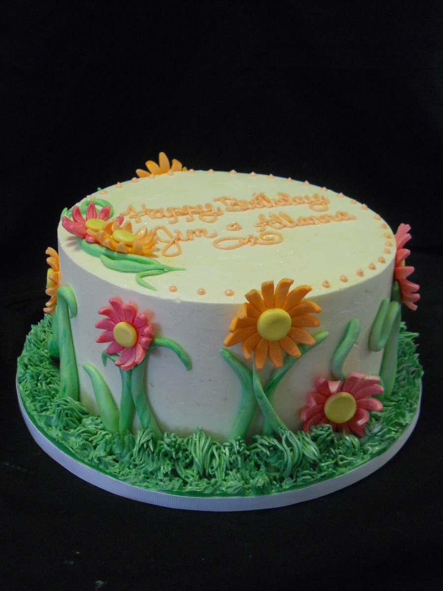 Daisy Flower Birthday Cake Cakecentral