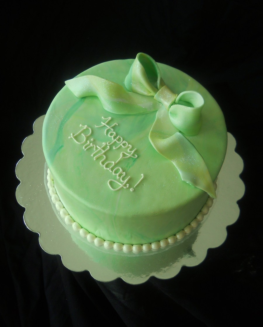 Astounding Simple Green Cake Cakecentral Com Personalised Birthday Cards Veneteletsinfo