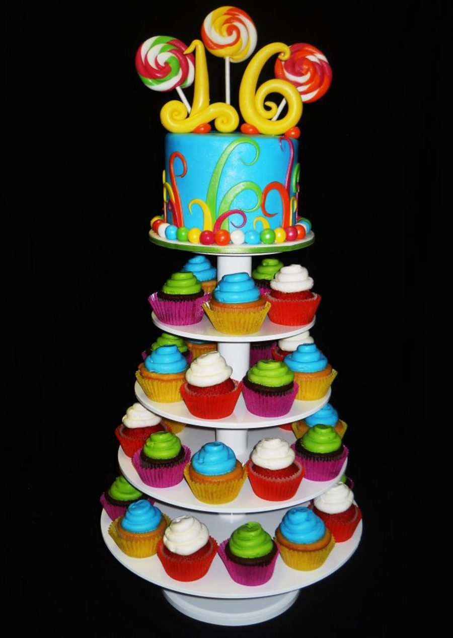 Sweet 16 Cupcake Tower Cakecentral Com