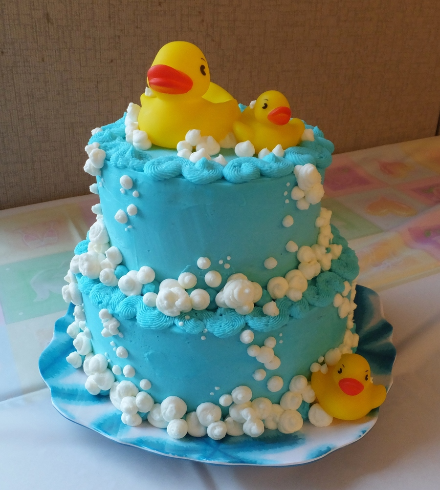 Rubber Ducky And Bubbles Cake on Cake Central