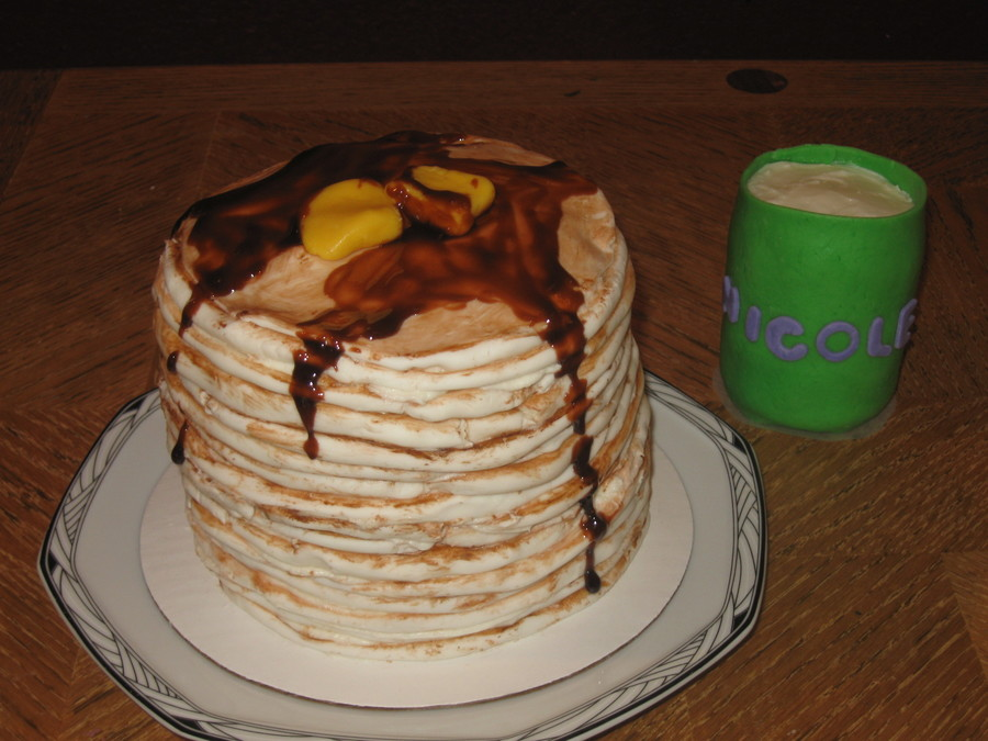 Tall Stack With Milk  on Cake Central