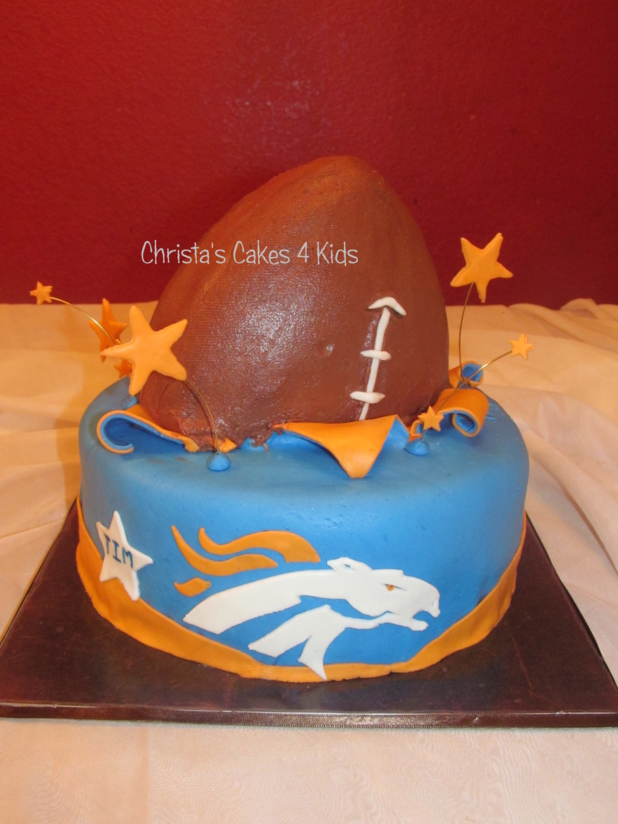 Broncos Football on Cake Central